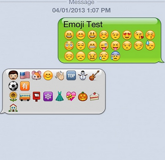 showing emoji android