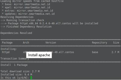 install apache2
